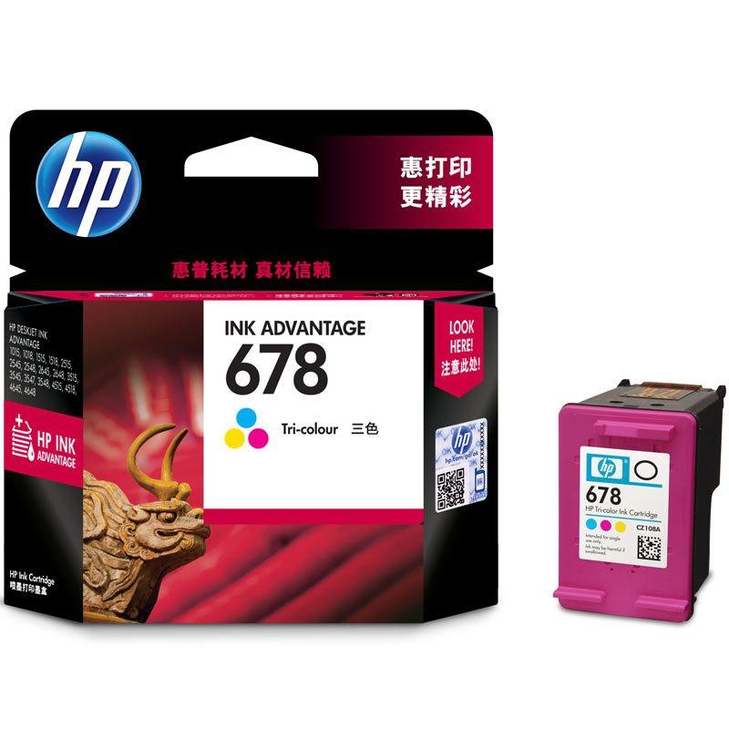 惠普(HP) CZ108AA 678彩色墨盒 适用HP Deskjet1018/2515/1518/4648/3515
